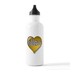 Love ellen Golden Hear Water Bottle