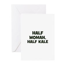 half woman, half kale Greeting Cards (Pk of 10