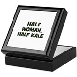 half woman, half kale Keepsake Box
