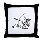 Injun Scribe Throw Pillow