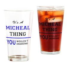 Unique Micheal Drinking Glass