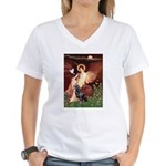 Angel #1/Rottweiler Women's V-Neck T-Shirt
