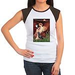 Angel #1/Rottweiler Women's Cap Sleeve T-Shirt