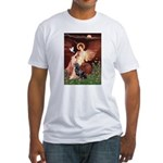 Angel #1/Rottweiler Fitted T-Shirt