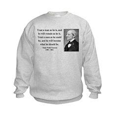 Ralph Waldo Emerson 16 Kids Sweatshirt