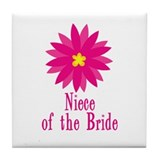 Niece of the Bride Tile Coaster