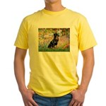 Garden / Rottweiler Yellow T-Shirt