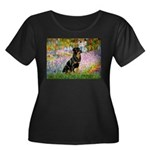 Garden / Rottweiler Women's Plus Size Scoop Neck D