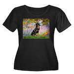 Garden / Rottweiler Women's Plus Size Scoop Neck D