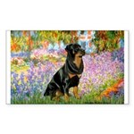 Garden / Rottweiler Sticker (Rectangle)