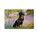 Garden / Rottweiler Rectangle Magnet