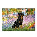Garden / Rottweiler Postcards (Package of 8)