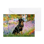 Garden / Rottweiler Greeting Cards (Pk of 10)
