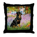 Garden / Rottweiler Throw Pillow