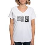 Ralph Waldo Emerson 17 Women's V-Neck T-Shirt