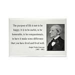 Ralph Waldo Emerson 17 Rectangle Magnet (10 pack)