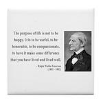 Ralph Waldo Emerson 17 Tile Coaster