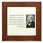 Ralph Waldo Emerson 17 Framed Tile
