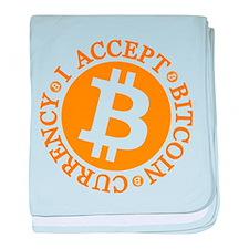 Type 2 I Accept Bitcoin baby blanket