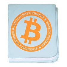 Type 2 Bitcoin Logo baby blanket