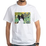 Irises & Papillon White T-Shirt