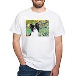 Irises & Papillon White T-Shirt
