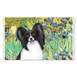 Irises & Papillon Sticker (Rectangle)