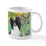 Irises & Papillon Mug