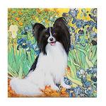 Irises & Papillon Tile Coaster