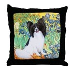 Irises & Papillon Throw Pillow