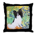 Irises & Papillon Throw Pillow