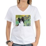 Irises & Papillon Women's V-Neck T-Shirt