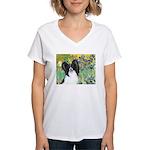 Irises & Papillon Women's V-Neck T-Shirt