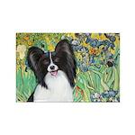 Irises & Papillon Rectangle Magnet (10 pack)