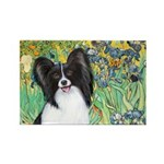 Irises & Papillon Rectangle Magnet