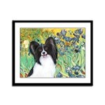 Irises & Papillon Framed Panel Print