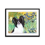 Irises & Papillon Framed Panel Print