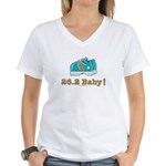 26.2 Marathon Runner Women's V-Neck T-Shirt
