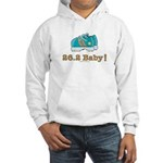 26.2 Marathon Runner White Hooded Sweatshirt