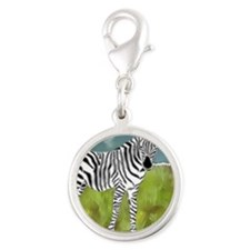 Curly Edge Zebra in the Grasslands Charms