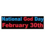 National God Day Bumper Bumper Sticker