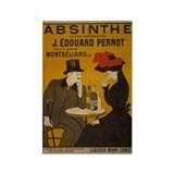 """Vintage Absinthe Poster"" Rectangle Magnet"