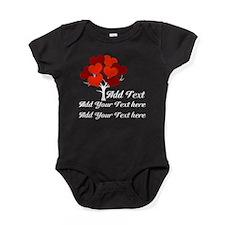 Custom add text Love tree Baby Bodysuit