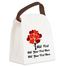 Custom add text Love tree Canvas Lunch Bag