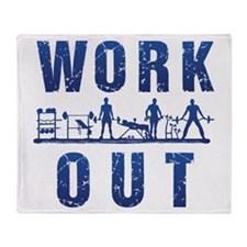 Work out Throw Blanket