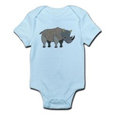 Patchwork Fabric Rhino Body Suit