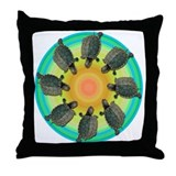 Circle of Turtles Throw Pillow