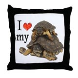 Luv My Turtle 1 Throw Pillow