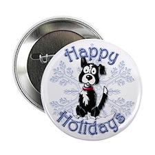 "Buzz's Border Collie Snowflake 2.25"" Button"