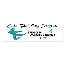 Kickin' Ovarian Cancer's Butt Bumper Bumper Sticker